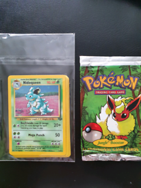 Opened Pokémon Booster Pack - Fossil