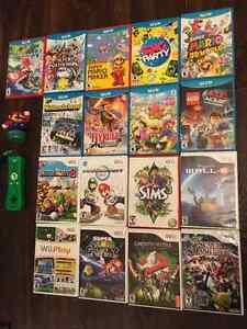 Wii U, Wii, PS3 games and controllers (price vary)