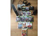 XBox 360 250gb + games + accessories bundle