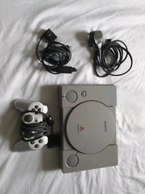 Original PS1 with cables and one controller