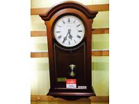 LCC Dark Wood Wall Clock