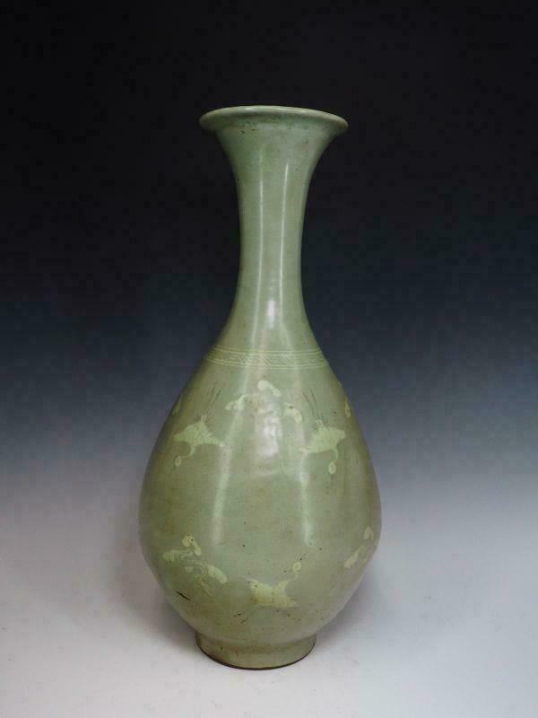Korean Joseon Dynasty Inlaid Large Vase / H 52[cm]