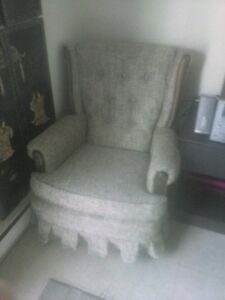 Vintage Rocker Fabric Chair