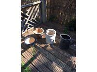 4 x Garden Plant Pots