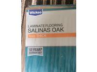 Laminate flooring salinas oak 7mm thick 3 x packs unopened