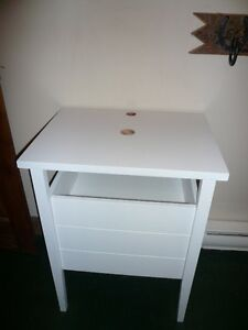 white bathroom sink stand with soft closing drawer