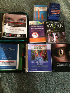 Pre-Health program books (Northern College)