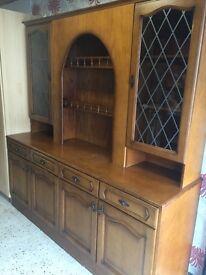 Large oak kitchen dresser