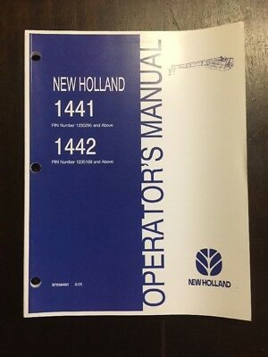 New Holland 1441 1442 Discbine Operators Manual