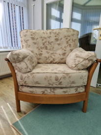 Ercol renaissance 2 seater sofa and 2 chairs