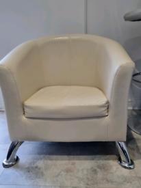Cream tub chair