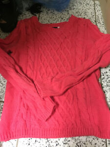 H&M women sweater pink new top warm S outwear knit wool