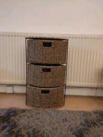 Wayfair storage corner wicker unit