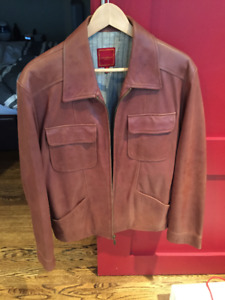 Cole Haan Leather Jacket - Mens Medium