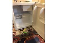 Counter fridge freezer with chiller compartment