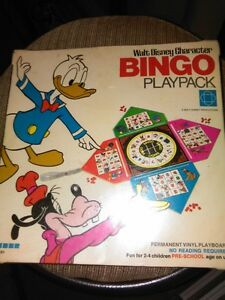 1969 Walt Disney Character BINGO Playpack game toy near mint