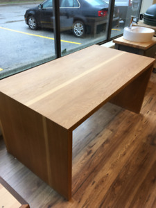 White oak dining table, custom made, seats 4