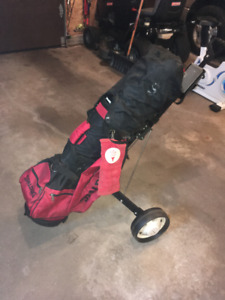 Spalding Golf Clubs, complete set with cart