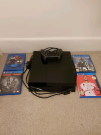 PS4 with Controller cables and games all works perfect.