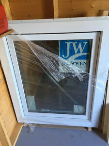 New, Jeldwen triple glaze vinyl casement window
