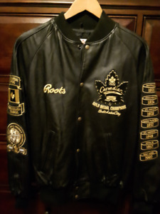 Roots Leather Jacket - Men's - Salt Lake City Olympics
