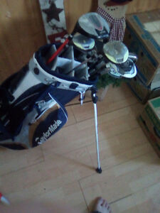 2 year old almost full set of adult golf clubs