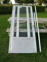 Aluminum storm door [Silver] not white.