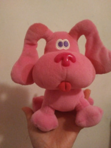 Blues clues magenta small plush dog good condition