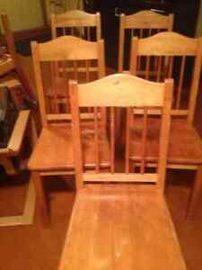 Dining room chairs. Handcrafted by Heritage woodworks