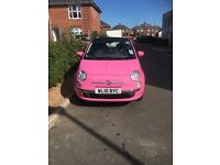 Limited Edition Pink Fiat 500 Cabriolet