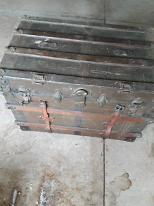 Antique trunk- could make a coffee table