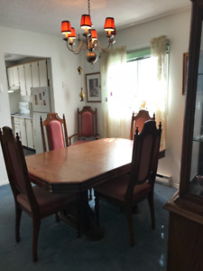 Real Wood Dining Room Set With Hutch
