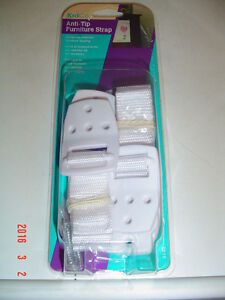 BRAND NEW PAIR OF KIDCO ANTI-TIP FURNITURE SAFETY STRAPS #S142