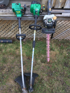 GAS TRIMMERS AND HEDGE TRIMMER