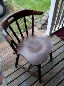 Solid wood vintage bar chairs