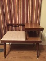 RARE Mid Century Atomic Table & Seat/Bench