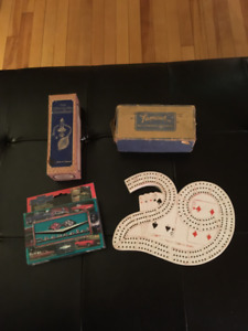 Classic crib board, Chevrolet cards, Nebulizer & Button worker
