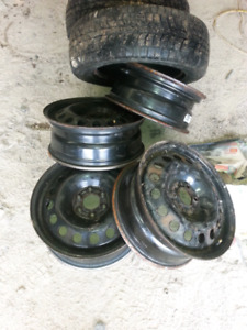 17 inch steel montana 6 bolt rims for sale , no tires