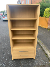 36. Solid oak bookcase