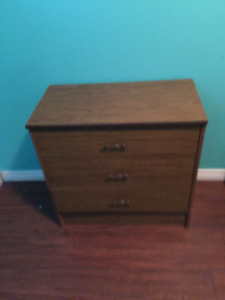 End table /night table, brown.  Two drawer