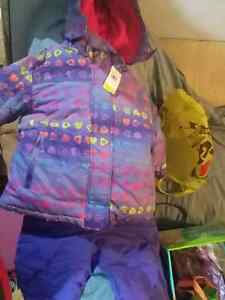 New purple snow suit with tag