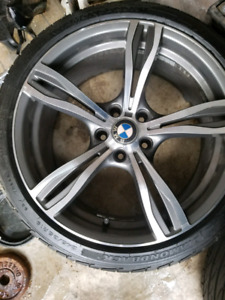 19 inch bmw rims and tires almost brand new