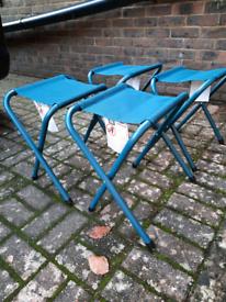 4 new camping stools