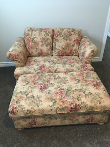 love seat and ottoman