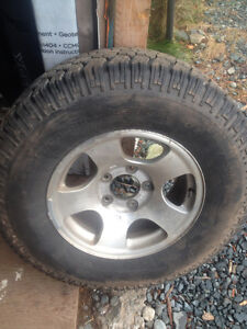 Like new tires and rims LT 245 75 16