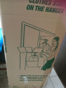 Cardboard Portable Closet. Used only once