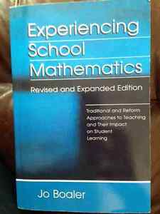 UNIVERSITY TEXT BOOK - EXPERIENCING SCHOOL MATHEMATICS Regina Regina Area image 1