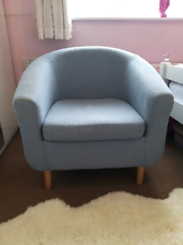 Duck egg tub chair
