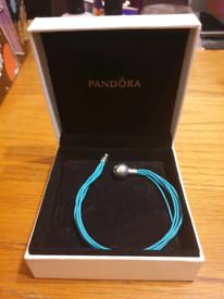 Pandora Teal Multi-strand bracelet