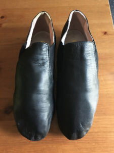 Bloch Black Leather Jazz Shoes Size 5 1/2